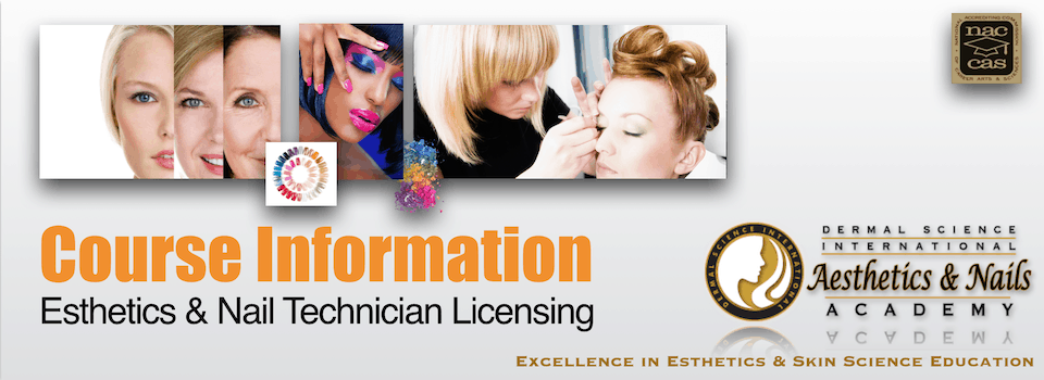 Course Information for Aesthetics Licensing and Nail Technician Licensing