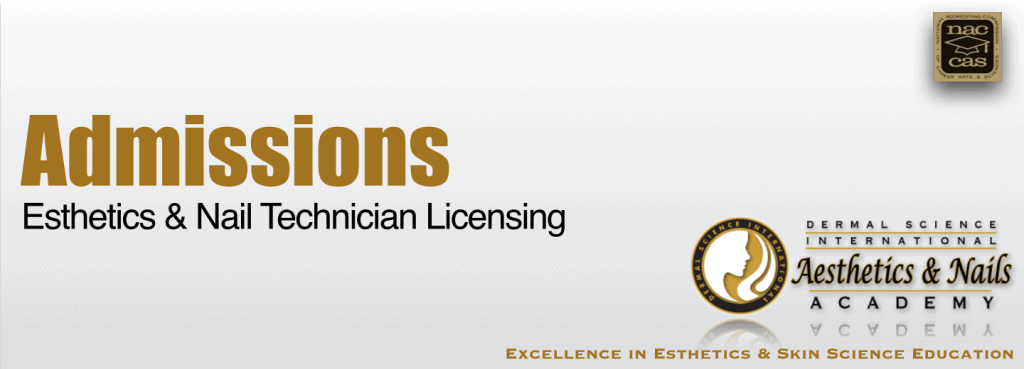 Picture of Admissions for Esthetics Licensing and Nail Technician Licensing