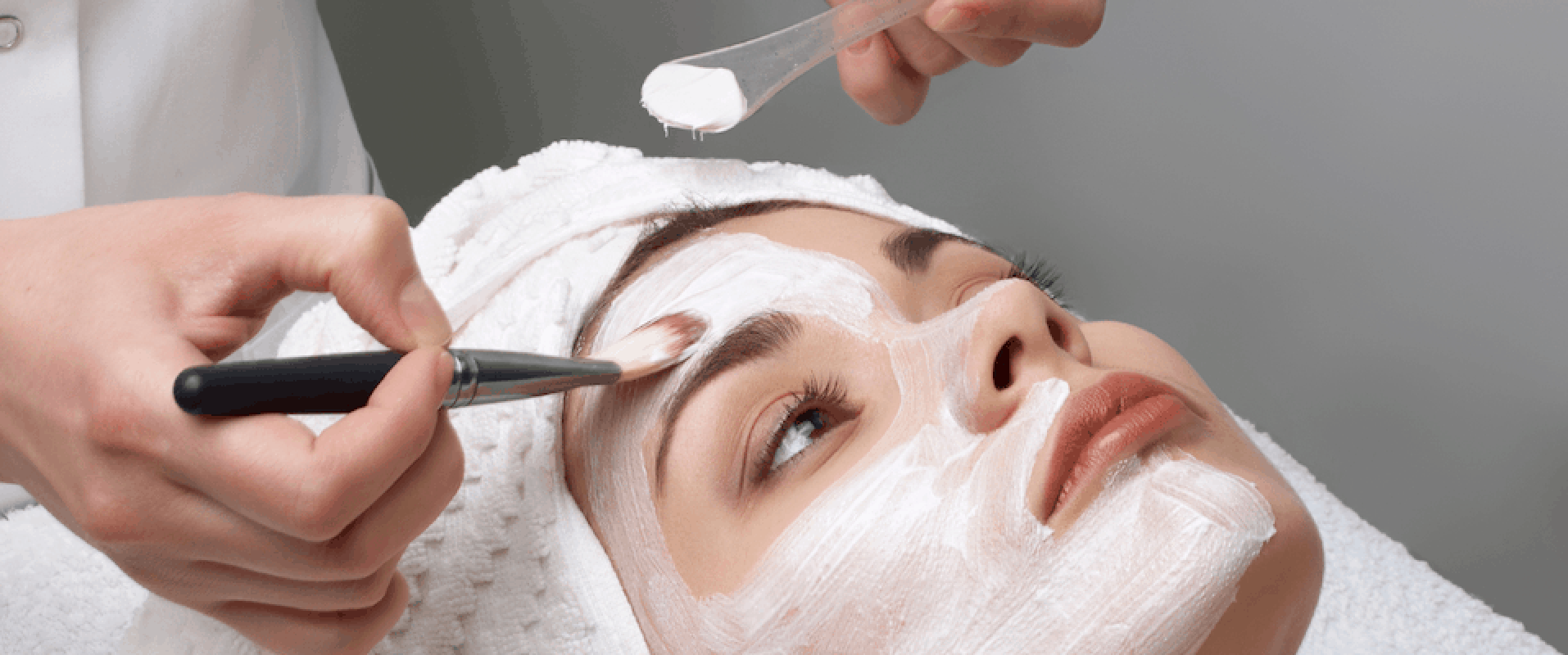 Picture of Esthetics Student Giving Facial at Esthetics Training