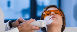 Picture of Esthetics Student Performing Laser Hair Removal
