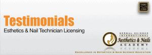 Picture of Testimonials at Esthetics Licensing