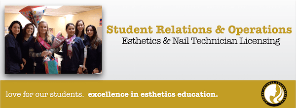 Student Relations and Operations for Esthetics and Nail Technician Licensing