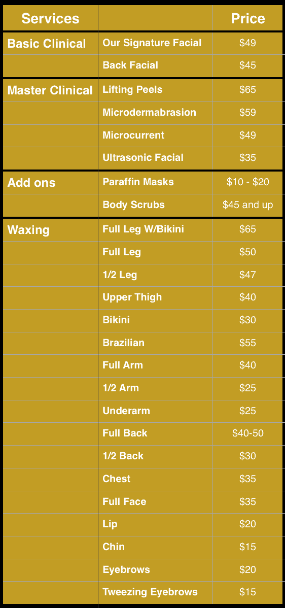 Best Prices on Facials, Waxing and Esthetics in Reston and Tysons Corner VA