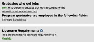 Gainful Employment - Master Aesthetics - B