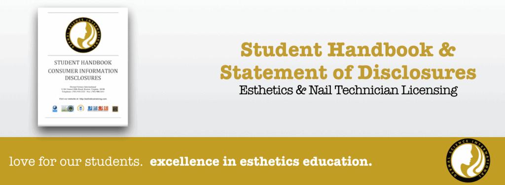 Dermal Science International Student Handbook & Statement of Disclosures